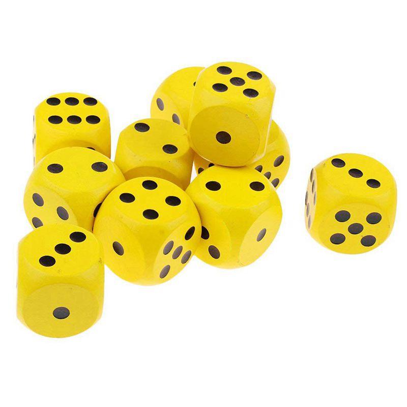 10-a-Six-Cotes-D6-Des-pour-Jeux-DE-Societe-Fait-DE-Bois-A1T8 miniature 21