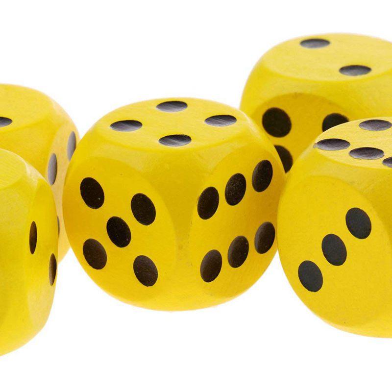 10-a-Six-Cotes-D6-Des-pour-Jeux-DE-Societe-Fait-DE-Bois-A1T8 miniature 22
