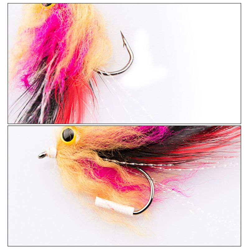 1pcs//bag New Trout Steelhead Salmon Pike Streamer Fly for Fly Fishing Flies C5H8