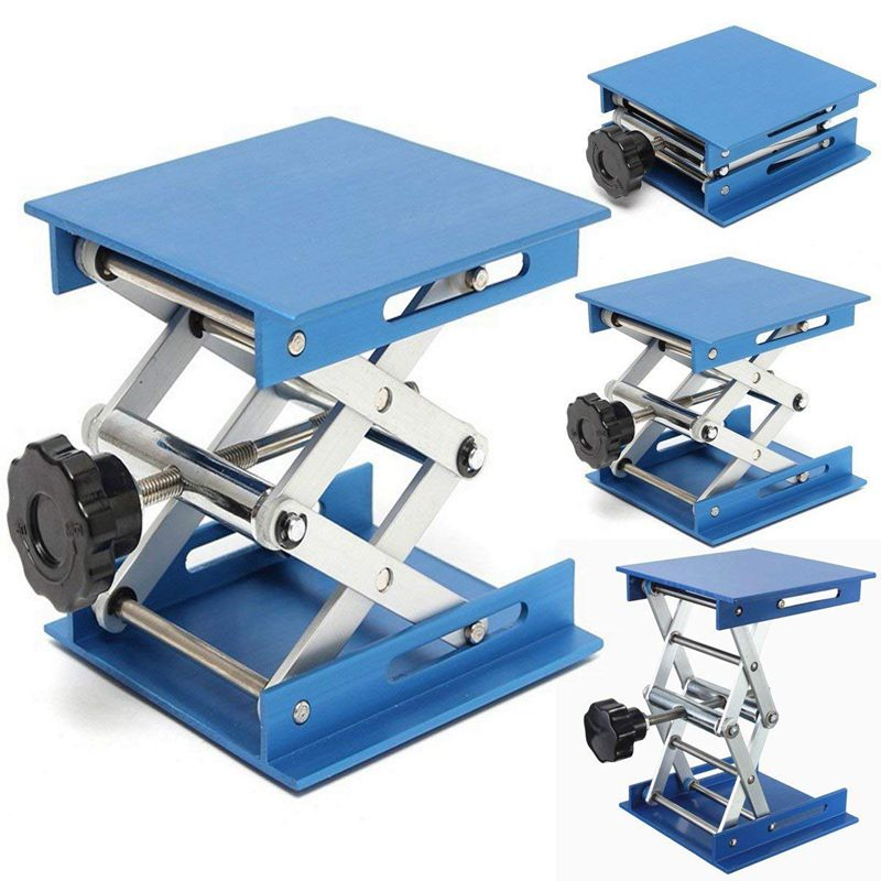6inch-Aluminum-Lab-Lift-Lifting-Platforms-Stand-Rack-Scissor-Lab-Jack-150x1-Z3B1 thumbnail 3