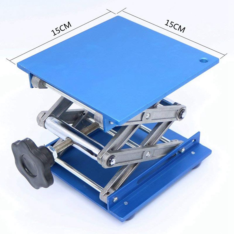 6inch-Aluminum-Lab-Lift-Lifting-Platforms-Stand-Rack-Scissor-Lab-Jack-150x1-Z3B1 thumbnail 11