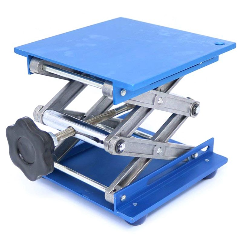 6inch-Aluminum-Lab-Lift-Lifting-Platforms-Stand-Rack-Scissor-Lab-Jack-150x1-Z3B1 thumbnail 10