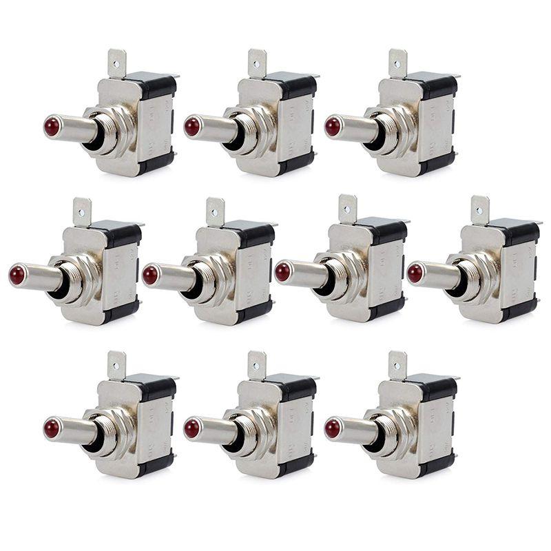 10 Piezas 12V 20A Interruptor De Palanca Basculante De Luz Led Interruptor S 4Z9 7