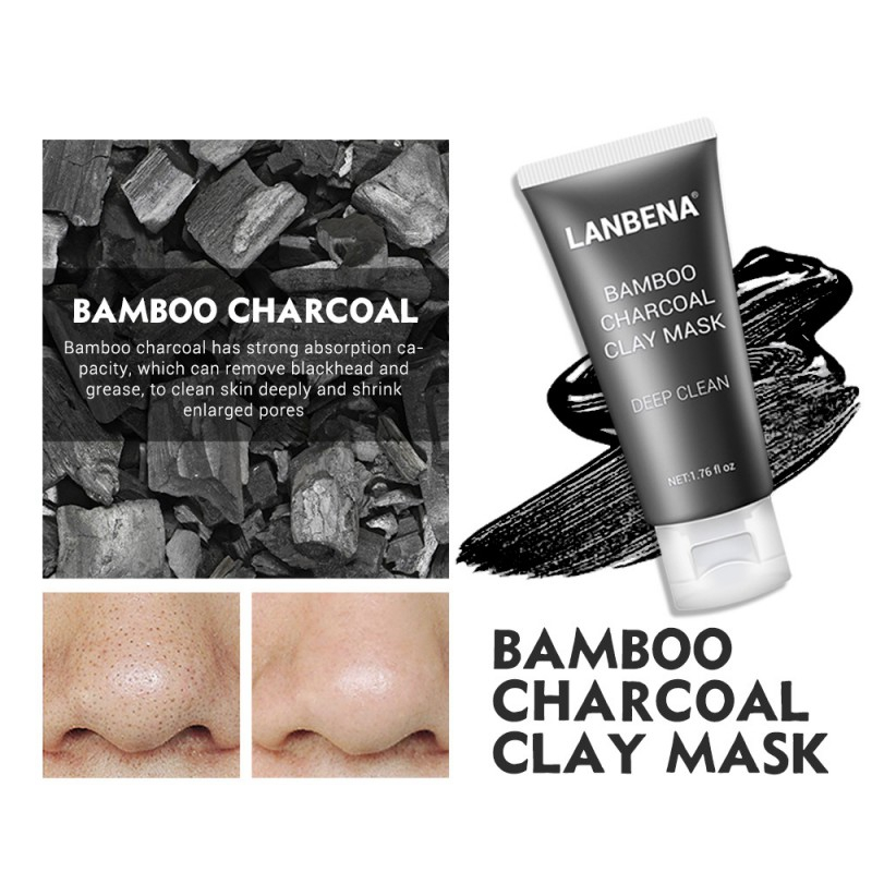 LANBENA-Bamboo-Charcoal-Deep-Cleaning-Remove-Grease-Shrinks-Pores-Nourishin-P6Y1 thumbnail 2