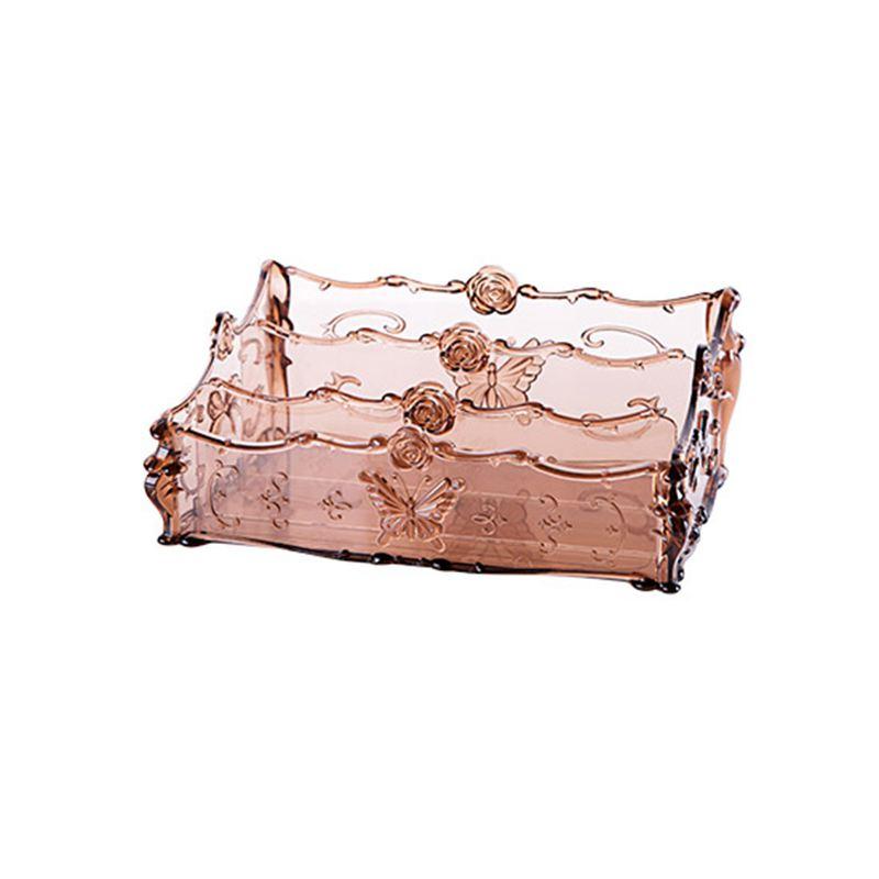 Organizzatore-Trucco-Per-Cosmetici-Storage-Box-Rack-Make-Up-Scatole-Traspar-Z2N6 miniatura 3