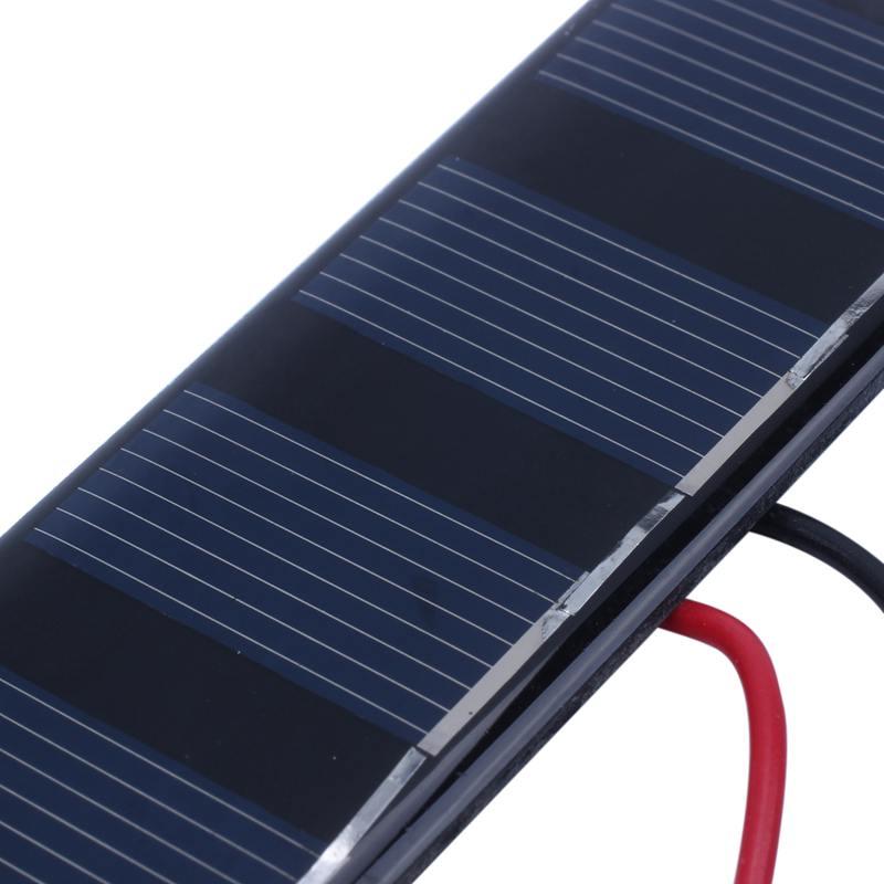 0.6W 5.5V solar panels polycrystalline silicon solar patch plastic DIY s I1N7 1X