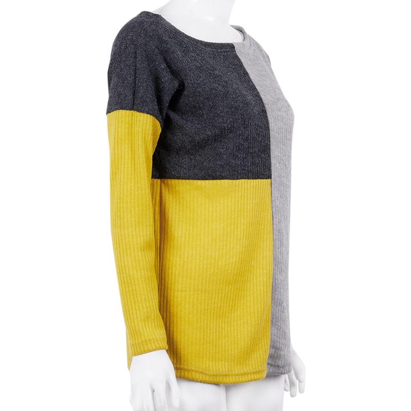 1X-Pull-Jointif-Couleur-Pour-Femme-Pull-epais-Chaud-Decontracte-D-039-epaule-De-Z8H5 miniature 5