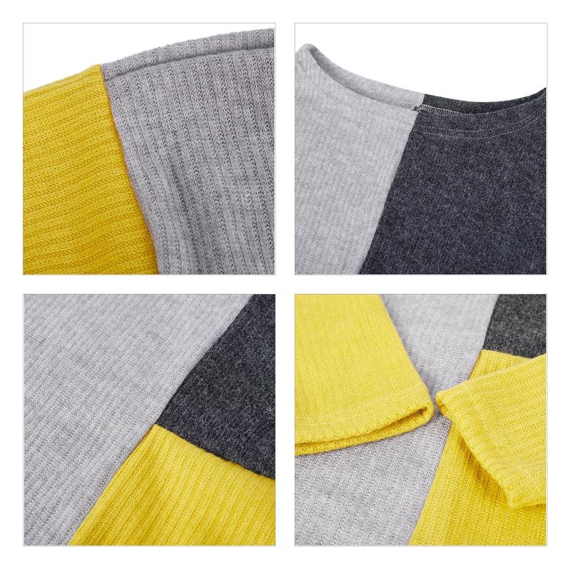 1X-Pull-Jointif-Couleur-Pour-Femme-Pull-epais-Chaud-Decontracte-D-039-epaule-De-Z8H5 miniature 7