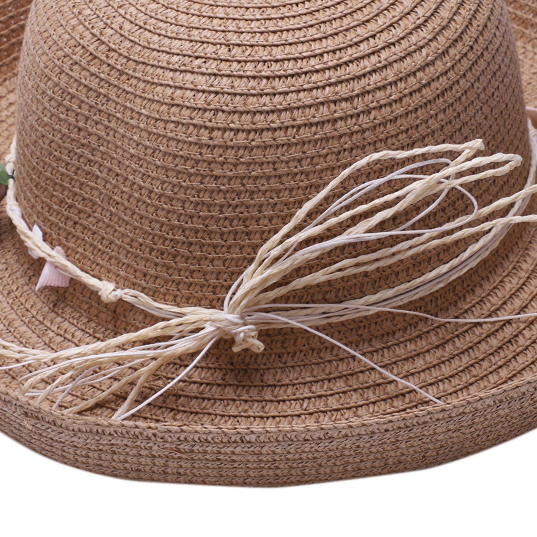Chapeau-De-Paille-Chapeau-De-Plage-Chapeau-De-Soleil-Chapeau-D-039-ete-Pour-Les-2F6 miniature 8