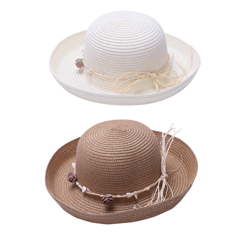 Chapeau-De-Paille-Chapeau-De-Plage-Chapeau-De-Soleil-Chapeau-D-039-ete-Pour-Les-2F6 miniature 20