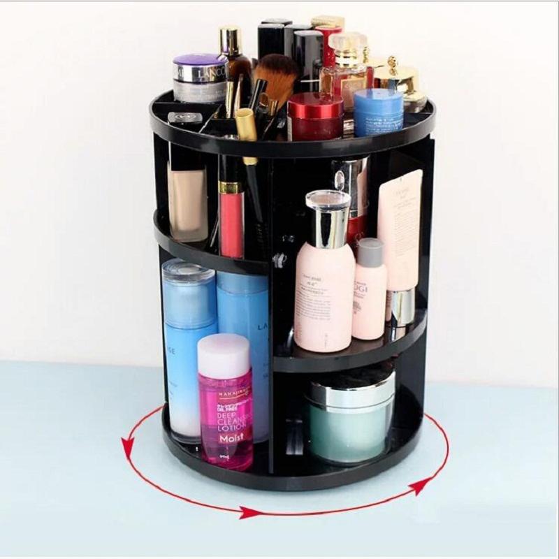 Caja-Organizador-de-Maquillaje-Giratorio-de-360-Grados-de-Moda-Sostenedor-d-C4S1 miniatura 3