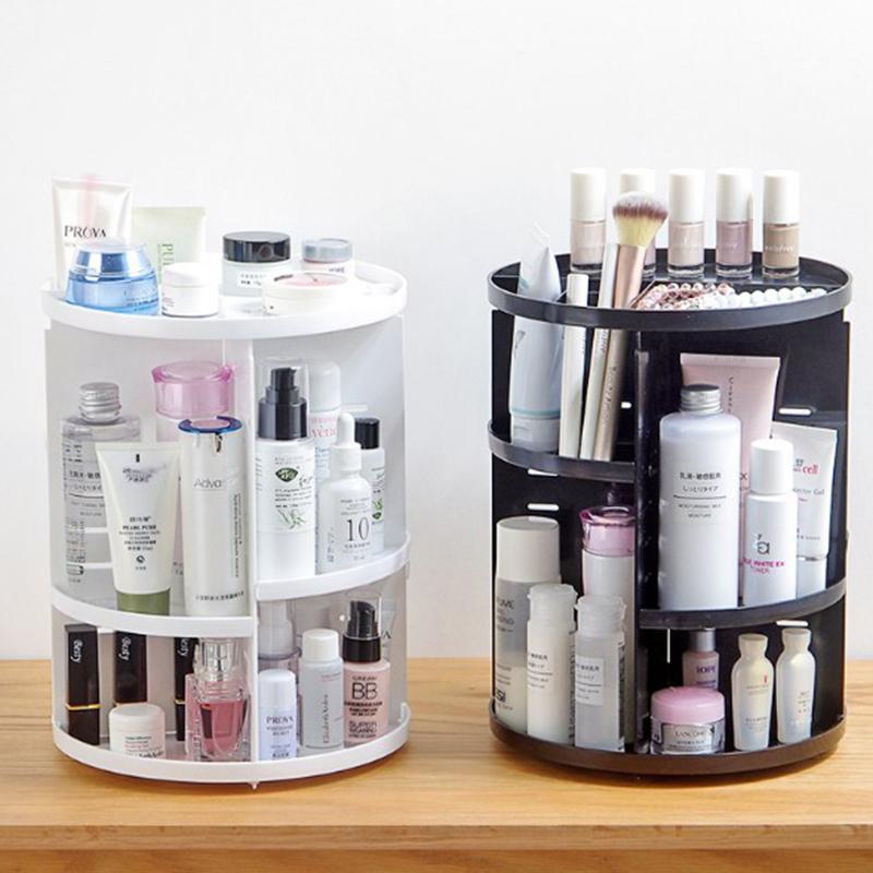 Caja-Organizador-de-Maquillaje-Giratorio-de-360-Grados-de-Moda-Sostenedor-d-C4S1 miniatura 7