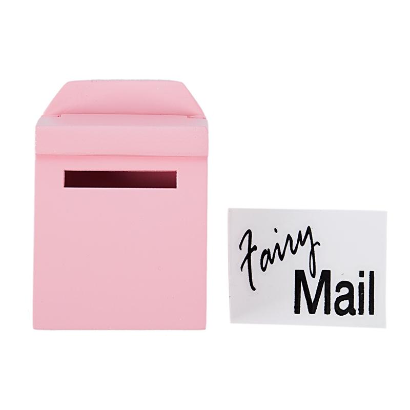 thumbnail 19 - 1-12-Wooden-Mailbox-Dollhouse-Miniature-Fairy-Garden-Decor-Blue-W9O9