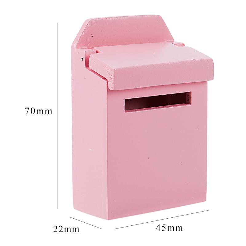 thumbnail 20 - 1-12-Wooden-Mailbox-Dollhouse-Miniature-Fairy-Garden-Decor-Blue-W9O9
