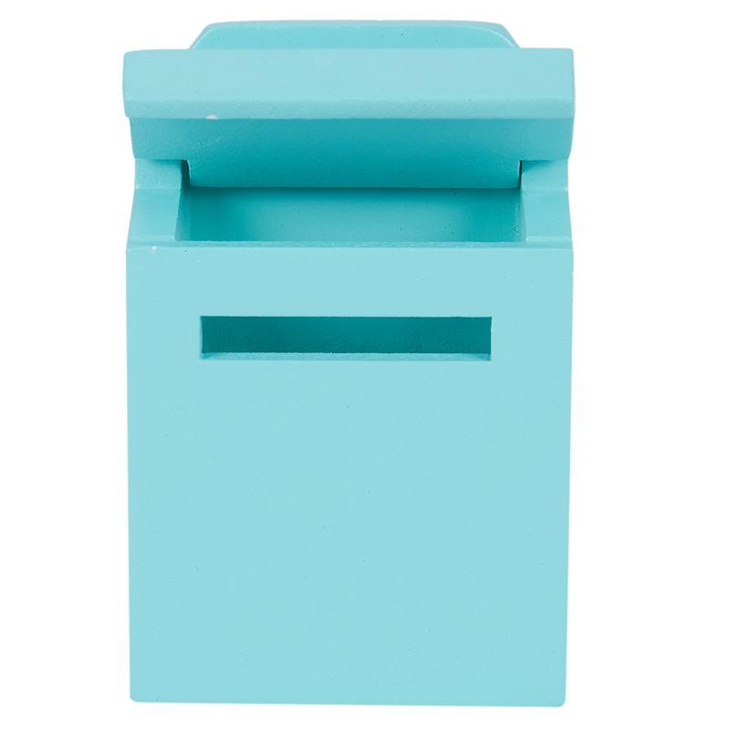 thumbnail 26 - 1-12-Wooden-Mailbox-Dollhouse-Miniature-Fairy-Garden-Decor-Blue-W9O9