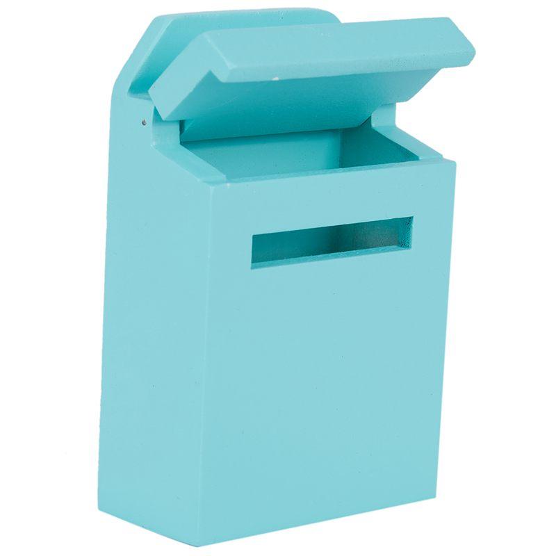 thumbnail 27 - 1-12-Wooden-Mailbox-Dollhouse-Miniature-Fairy-Garden-Decor-Blue-W9O9