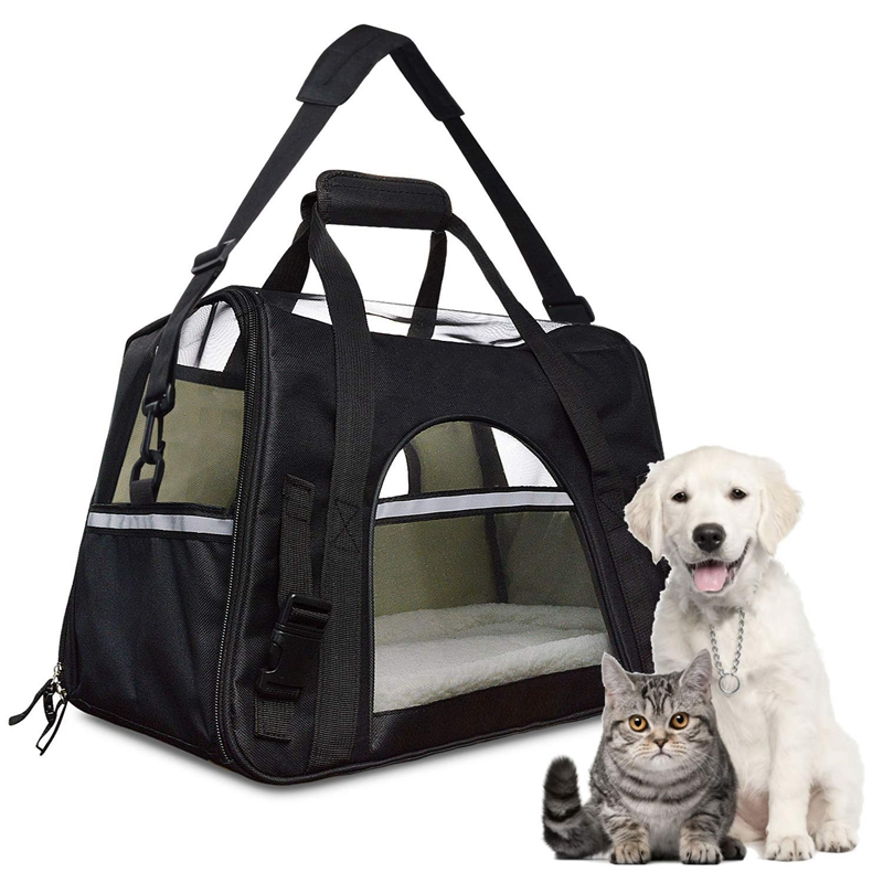 4XAirline Approved Pet Carrier,Waterproof Pet Travel Carrier with Fleece S2S3