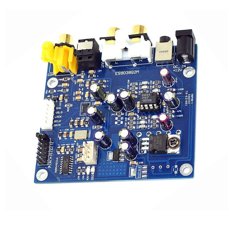 Accessories & Parts Es9038 Q2m I2s Dsd Optical Coaxial Input Decoder Usb Dac Headphone Output Hifi Audio Amplifier Board Module Audio & Video Replacement Parts