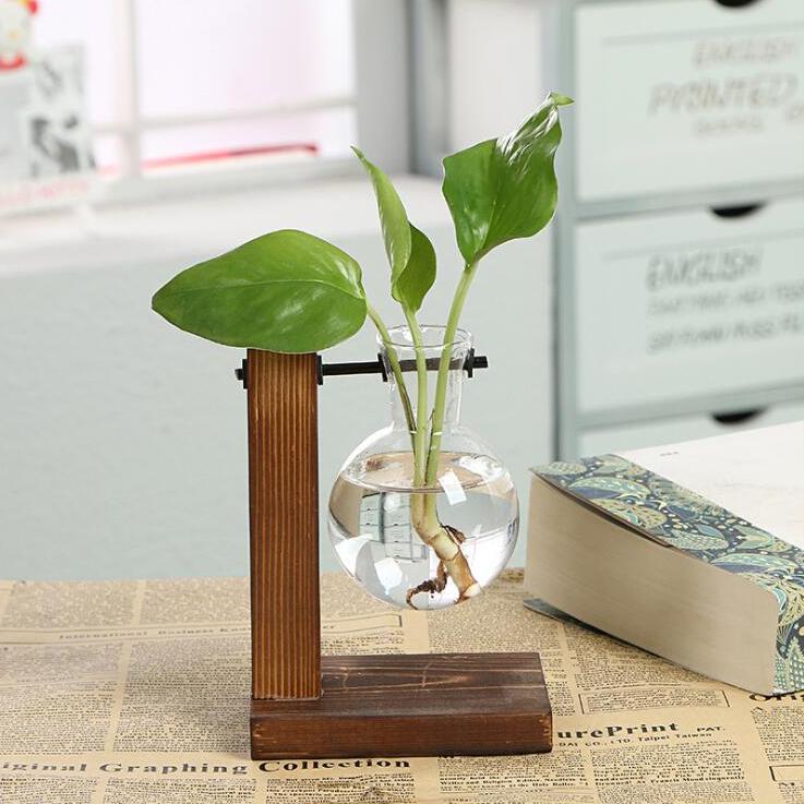 Vintage-Style-Glas-Desktop-Pflanze-Bonsai-Blume-Weihnachten-Dekoration-Vase-J5O5 Indexbild 3