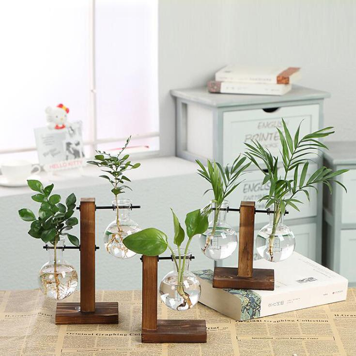Vintage-Style-Glas-Desktop-Pflanze-Bonsai-Blume-Weihnachten-Dekoration-Vase-J5O5 Indexbild 4