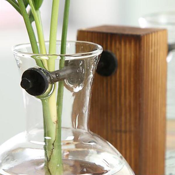 Vintage-Style-Glas-Desktop-Pflanze-Bonsai-Blume-Weihnachten-Dekoration-Vase-J5O5 Indexbild 5