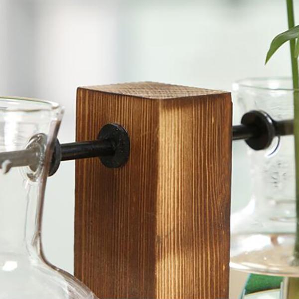 Vintage-Style-Glas-Desktop-Pflanze-Bonsai-Blume-Weihnachten-Dekoration-Vase-J5O5 Indexbild 7