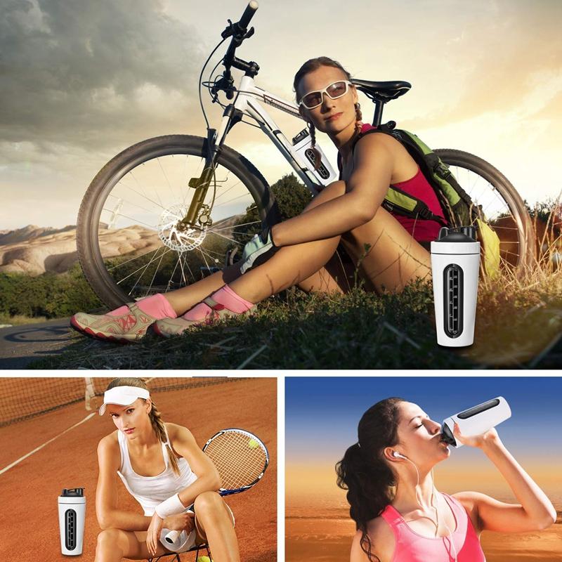 Protein-Shaker-Bottle-Stainless-Steel-Sports-Water-Bottle-Shaker-Cup-Leak-M3R7 thumbnail 13