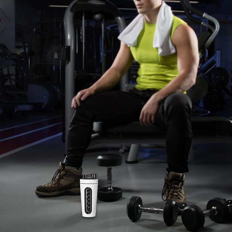 Protein-Shaker-Bottle-Stainless-Steel-Sports-Water-Bottle-Shaker-Cup-Leak-M3R7 thumbnail 15