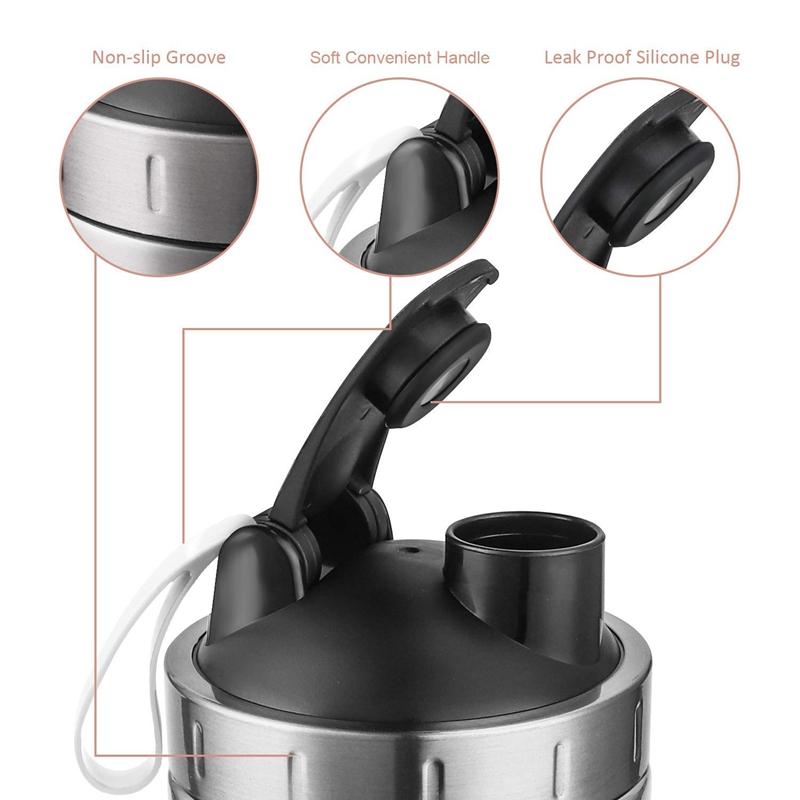 Protein-Shaker-Bottle-Stainless-Steel-Sports-Water-Bottle-Shaker-Cup-Leak-M3R7 thumbnail 18