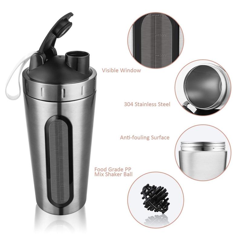 Protein-Shaker-Bottle-Stainless-Steel-Sports-Water-Bottle-Shaker-Cup-Leak-M3R7 thumbnail 19