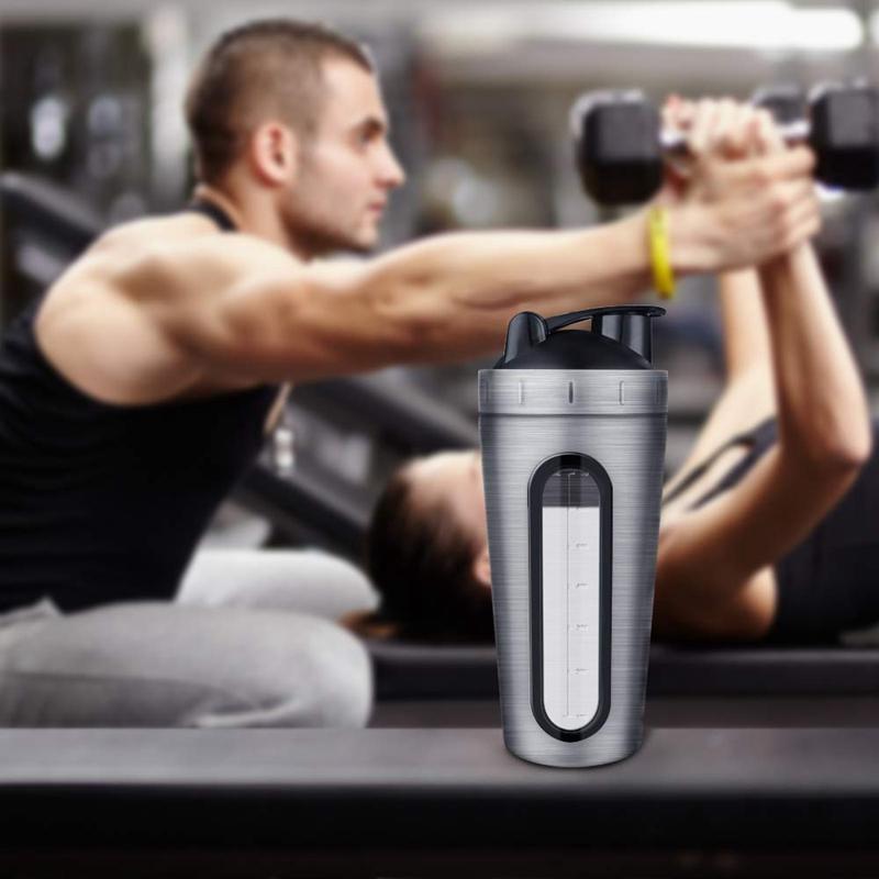 Protein-Shaker-Bottle-Stainless-Steel-Sports-Water-Bottle-Shaker-Cup-Leak-M3R7 thumbnail 21