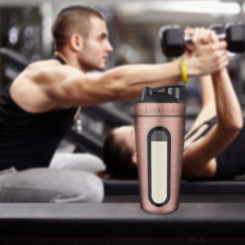 Protein-Shaker-Bottle-Stainless-Steel-Sports-Water-Bottle-Shaker-Cup-Leak-M3R7 thumbnail 28