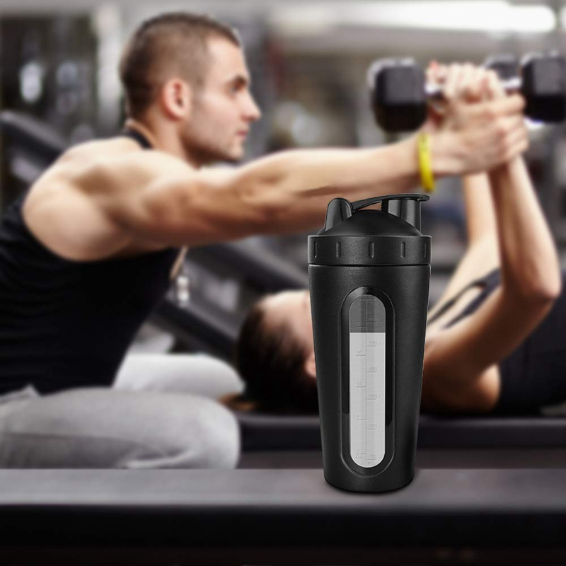 Protein-Shaker-Bottle-Stainless-Steel-Sports-Water-Bottle-Shaker-Cup-Leak-M3R7 thumbnail 35