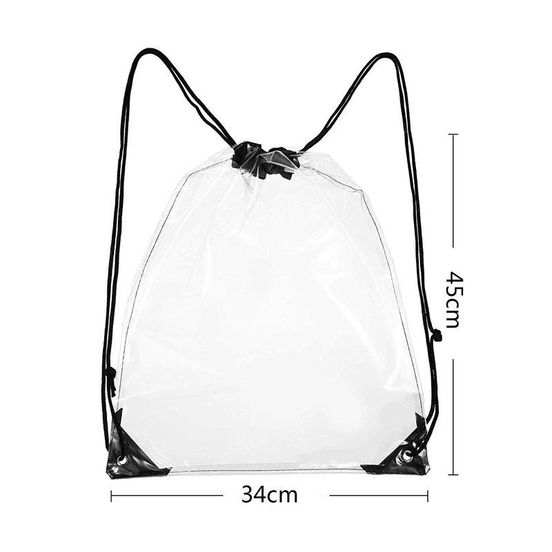 5 Pack Transpa Drawstring Bag Clear Cinch Bags