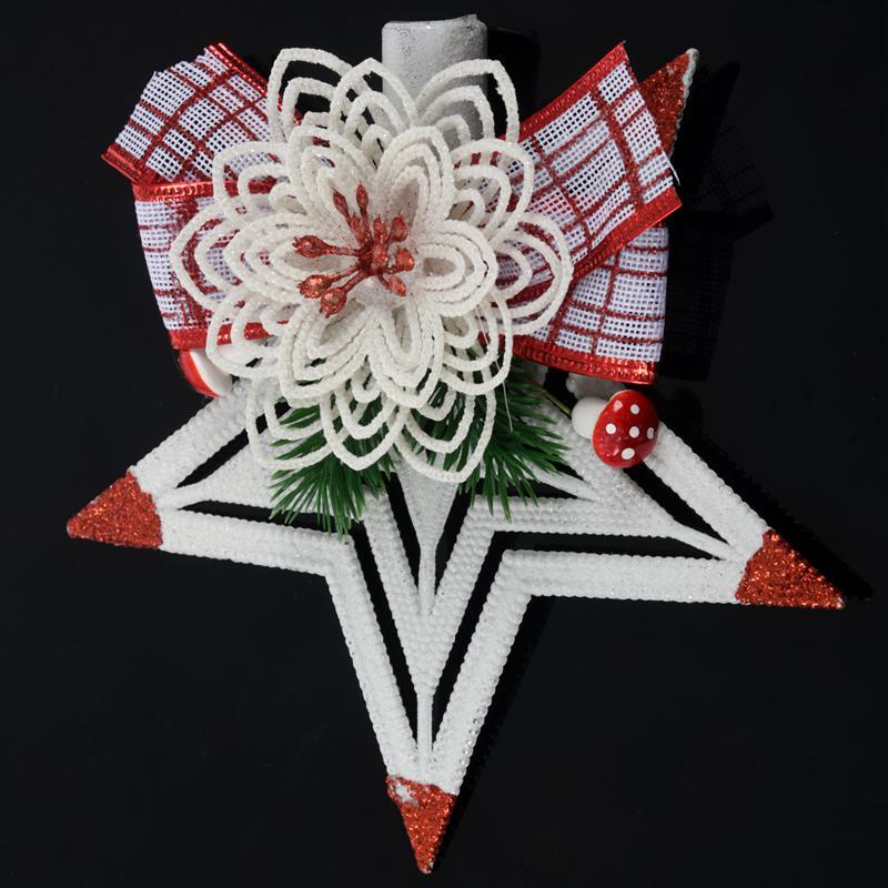 White-Christmas-Home-Door-Window-Ornaments-Christmas-Decoration-Xmas-Tree-H-T6A7 thumbnail 17