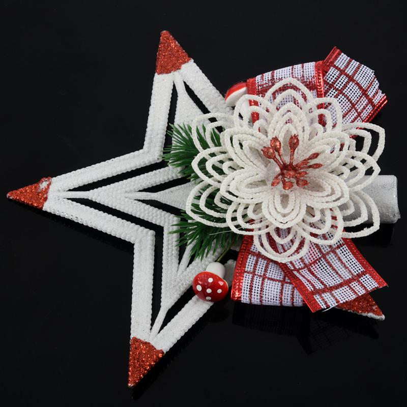 White-Christmas-Home-Door-Window-Ornaments-Christmas-Decoration-Xmas-Tree-H-T6A7 thumbnail 19