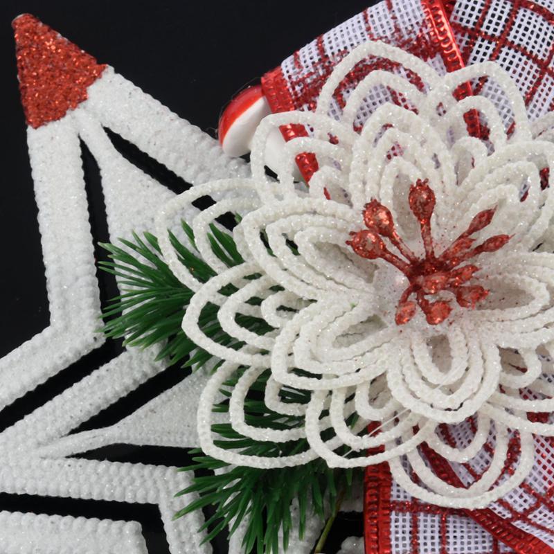 White-Christmas-Home-Door-Window-Ornaments-Christmas-Decoration-Xmas-Tree-H-T6A7 thumbnail 21