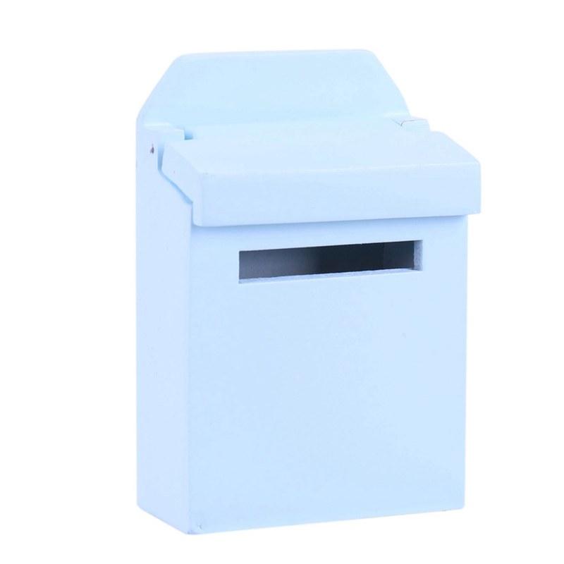 thumbnail 5 - 1-12-Wooden-Mailbox-Dollhouse-Miniature-Fairy-Garden-Decor-Blue-W9O9