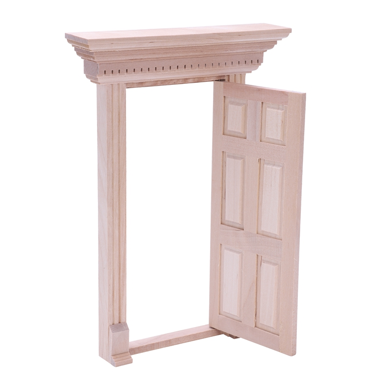 1-12-Scale-Wooden-Fairy-Front-Door-Dolls-House-Miniature-Accessory-K7W6 thumbnail 4