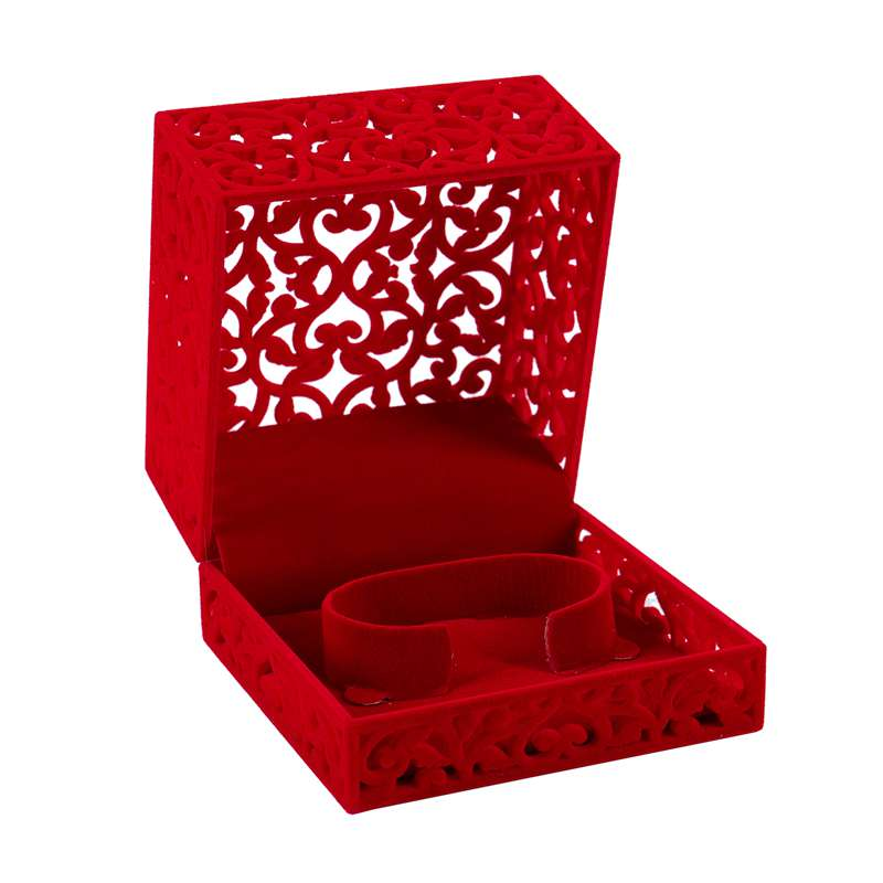 Hollow-Engagement-Wedding-Jewelry-Box-Holder-Display-Gift-Ring-box-Red-V1W1 thumbnail 3