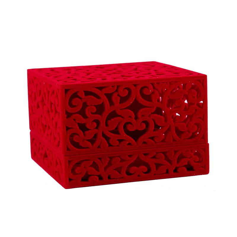 Hollow-Engagement-Wedding-Jewelry-Box-Holder-Display-Gift-Ring-box-Red-V1W1 thumbnail 4