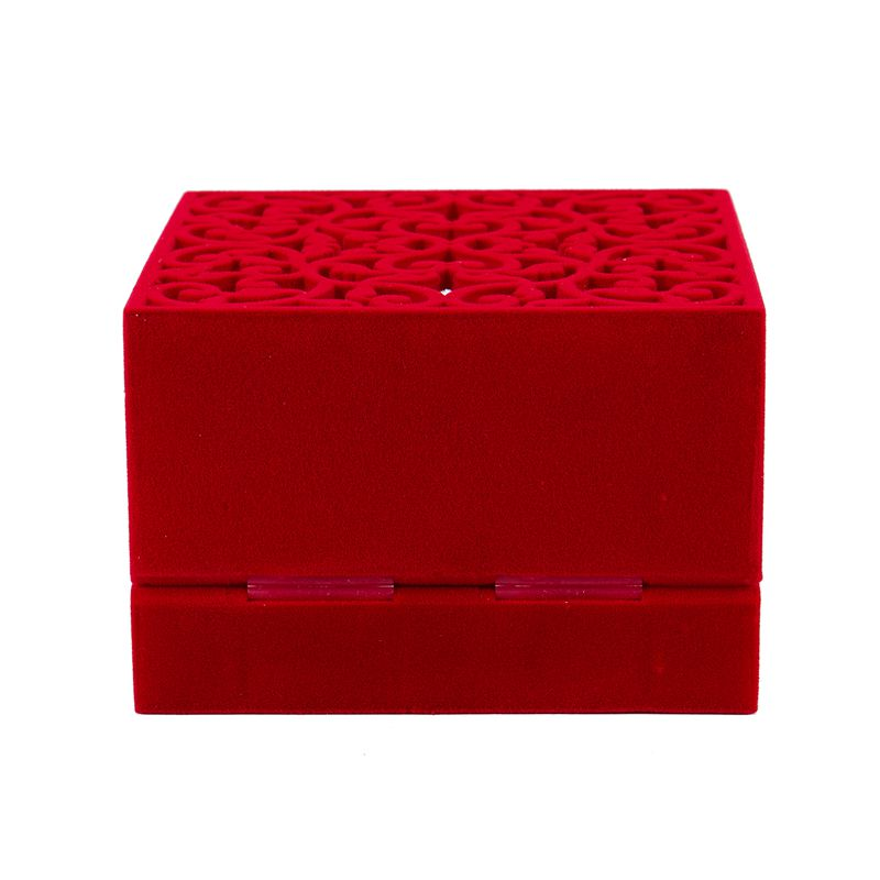 Hollow-Engagement-Wedding-Jewelry-Box-Holder-Display-Gift-Ring-box-Red-V1W1 thumbnail 5