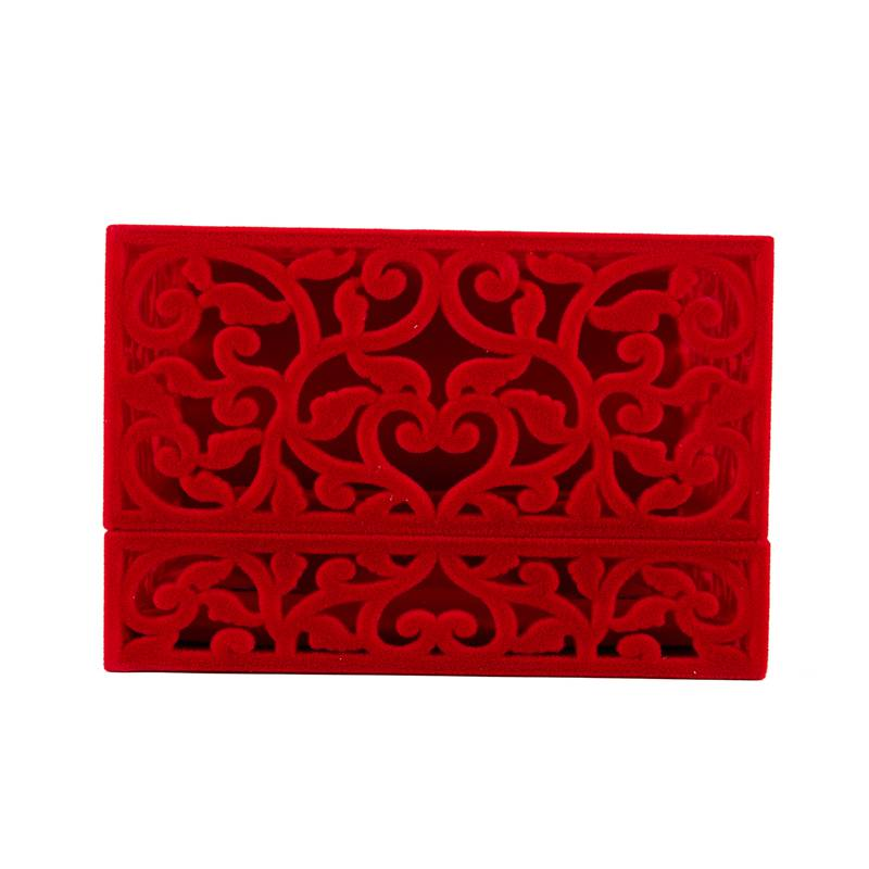 Hollow-Engagement-Wedding-Jewelry-Box-Holder-Display-Gift-Ring-box-Red-V1W1 thumbnail 6