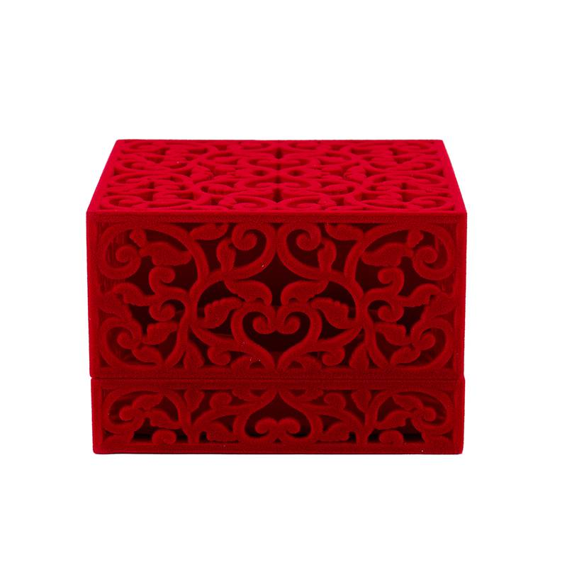 Hollow-Engagement-Wedding-Jewelry-Box-Holder-Display-Gift-Ring-box-Red-V1W1 thumbnail 7