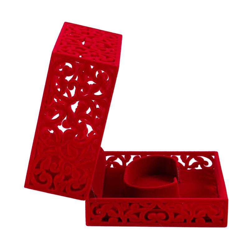 Hollow-Engagement-Wedding-Jewelry-Box-Holder-Display-Gift-Ring-box-Red-V1W1 thumbnail 9