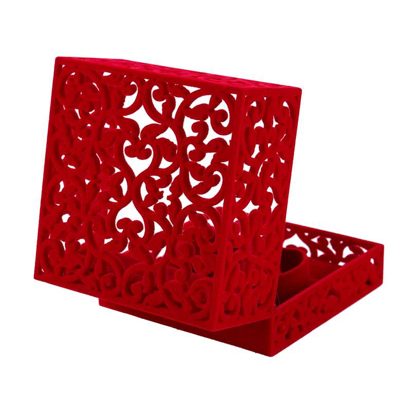 Hollow-Engagement-Wedding-Jewelry-Box-Holder-Display-Gift-Ring-box-Red-V1W1 thumbnail 10