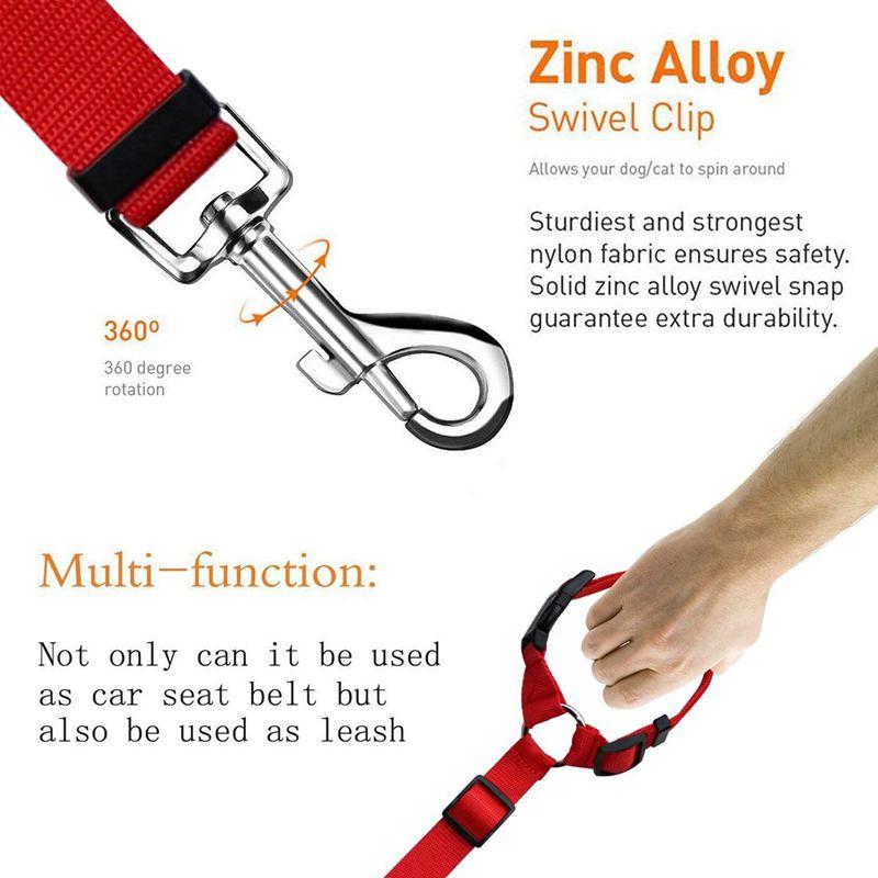 2-Packs-Dog-Cat-Safety-Seat-Belt-Strap-Car-Headrest-Restraint-Adjustable-Ny-E9F1 thumbnail 4