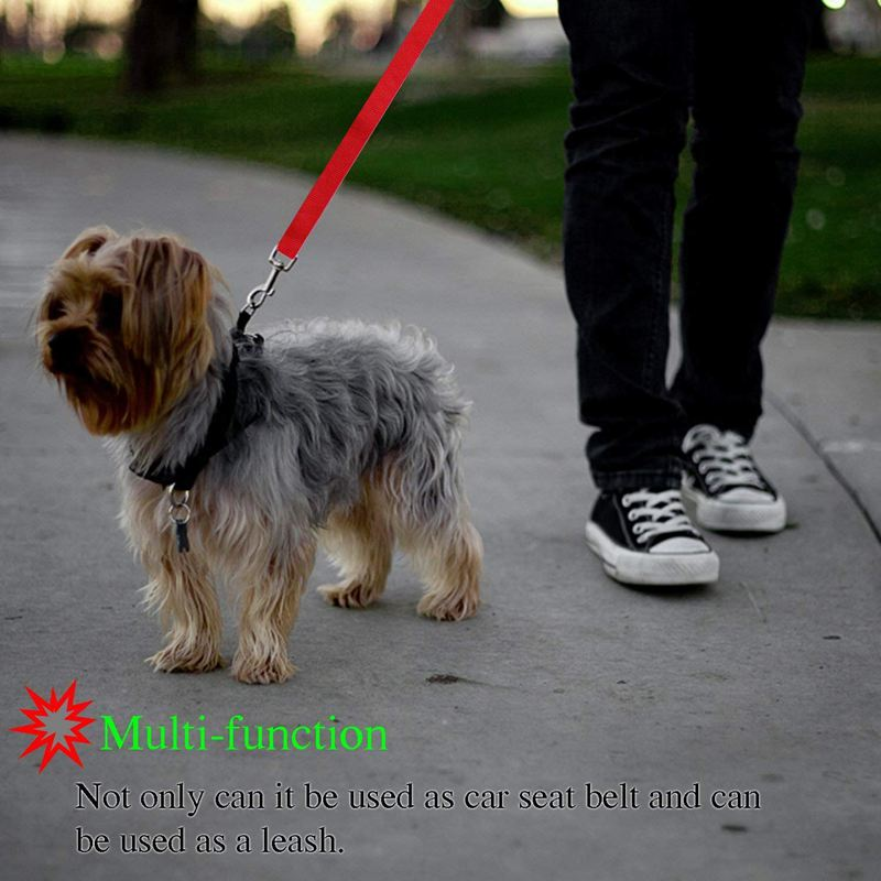 2-Packs-Dog-Cat-Safety-Seat-Belt-Strap-Car-Headrest-Restraint-Adjustable-Ny-E9F1 thumbnail 7