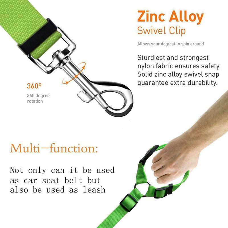 2-Packs-Dog-Cat-Safety-Seat-Belt-Strap-Car-Headrest-Restraint-Adjustable-Ny-E9F1 thumbnail 10