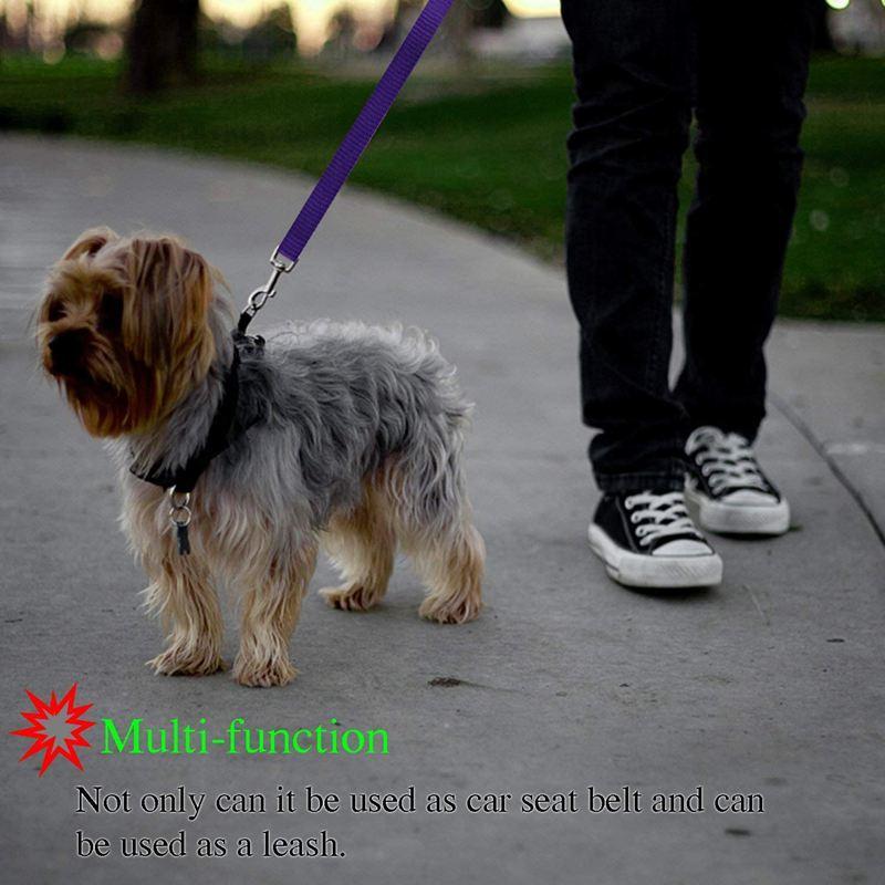 2-Packs-Dog-Cat-Safety-Seat-Belt-Strap-Car-Headrest-Restraint-Adjustable-Ny-E9F1 thumbnail 19
